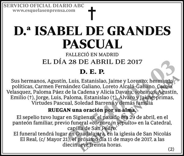 Isabel de Grandes Pascual